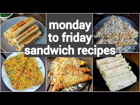 Monday To Friday Easy Sandwich Recipes | 5 नाश्ता सैंडविच रेसिपी | 5 Quick Sandwich Recipes