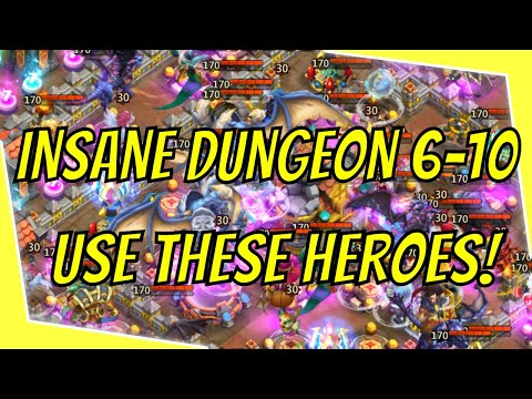 Insane Dungeon 6-10 3 Flame - Use These Heroes!
