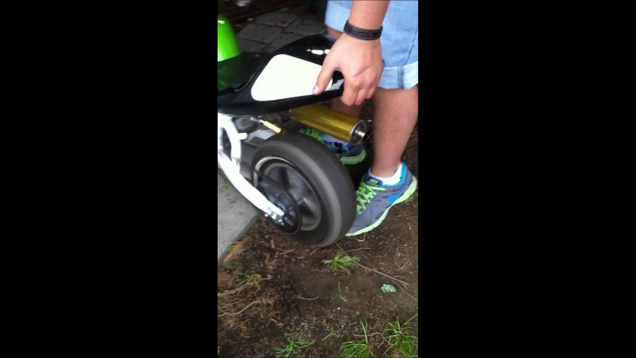 pocket bike erste start big bore 6 snakepipe carbon. Black Bedroom Furniture Sets. Home Design Ideas