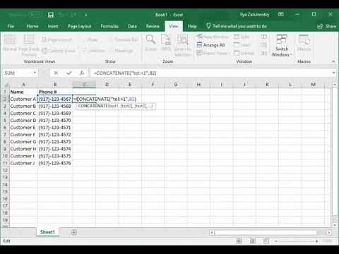 Click to Dial within Excel with 8×8 Virtual Office Desktop