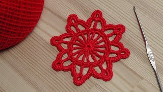 Урок вязания круглого мотива - крючок для новичков - crochet for beginners