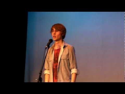 Jordan Carlton singing a Les Miz song. Caistor Grammar School