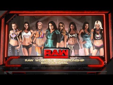 WWE 2K18 RAW WOMEN'S CHAMPIONSHIP 8 WOMEN'S BATTLE ROYAL