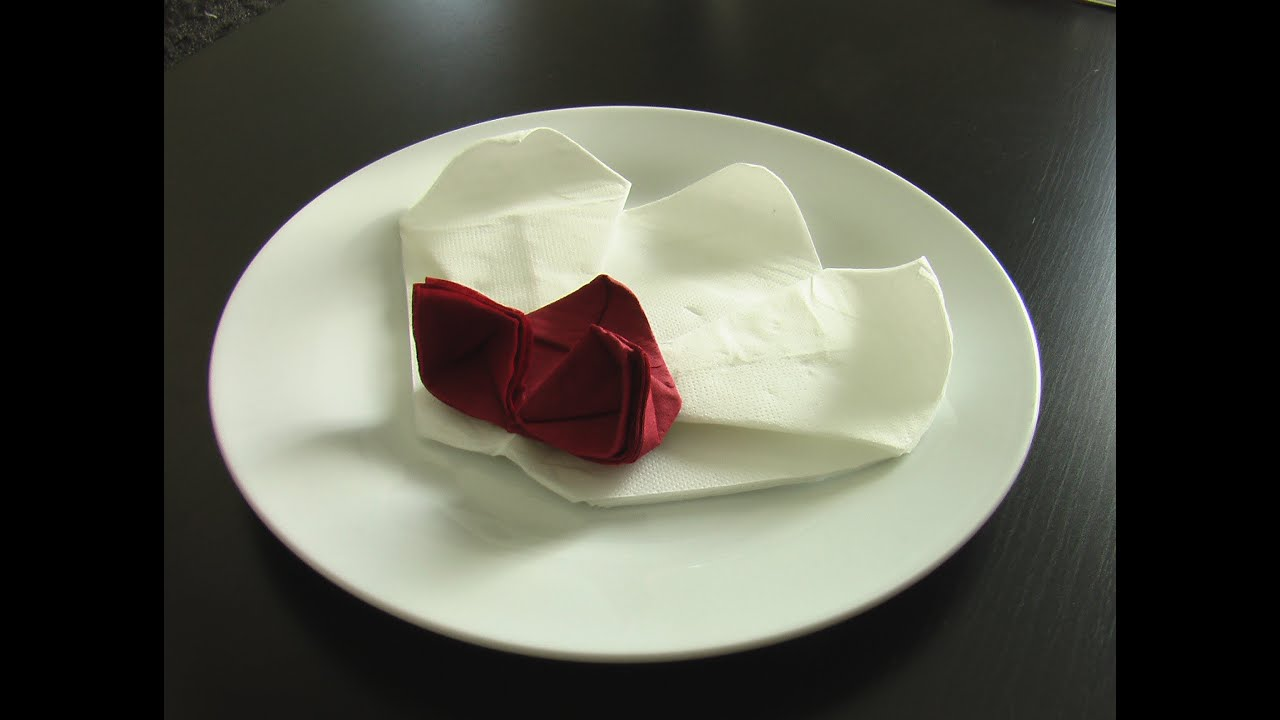 Pliage De Serviette Bapteme Pliage Serviette Orchidée Origami Youtube