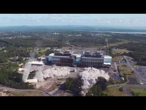 Controlled Explosive Demolition of Munmorah Power Station Chimney Stacks