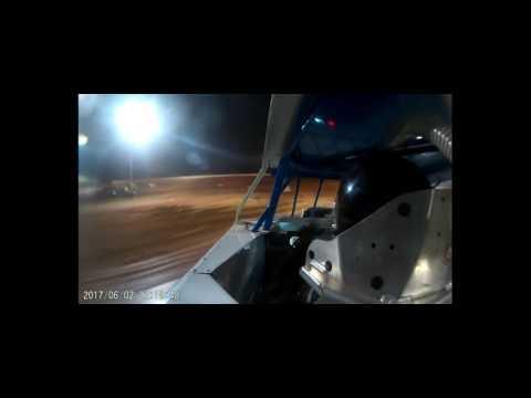Kenny Johnson GoPro Footage Heat Race/Feature Skyline Speedway 6-2-17