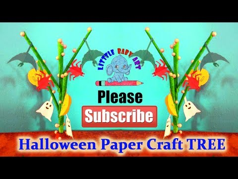 Halloween Tree Decoration | Hanging Paper Pumpkin Halloween Decorations | Halloween Craft
