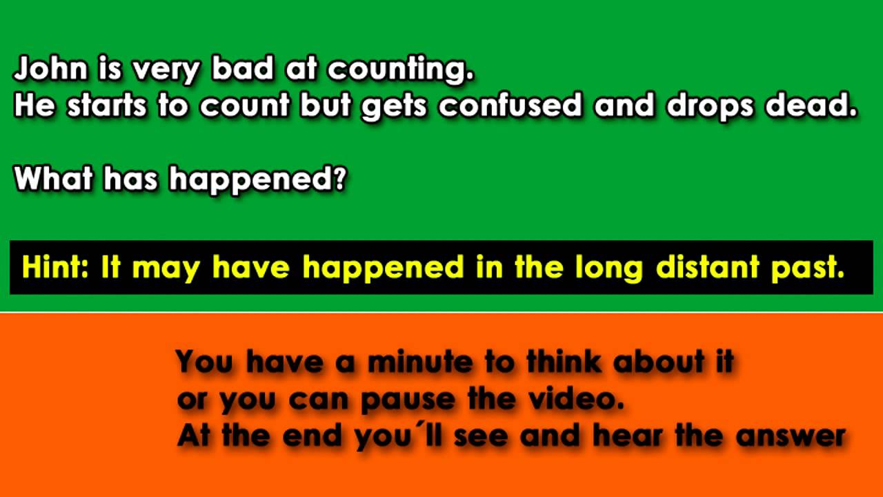 Riddles and answers 11 bad counting john hard riddle youtube publicscrutiny Images
