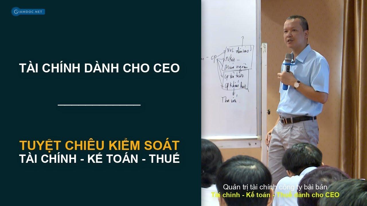Quản lý tài chính kế toán dành cho giám đốc, chủ DN SME   Phương pháp kiểm soát kết quả