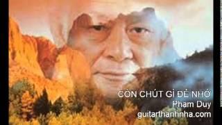 CÒN CHÚT GÌ ĐỂ NHỚ - Guitar Solo