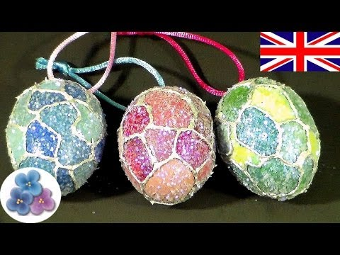How to make Egg Christmas Ornaments DIY Christmas Decorations Eggs Christmas Crafts Mathie