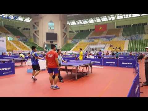 Hiền Cận Tuấn Đức vs Tuân Hải Dương Đảm Béo - Bán Kết Đồng Đội A Giải Bóng Bàn Hà Nội Open 2016