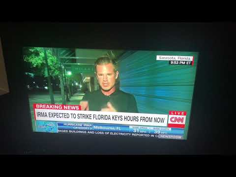 Irma reporter surprised in Sarasota Florida
