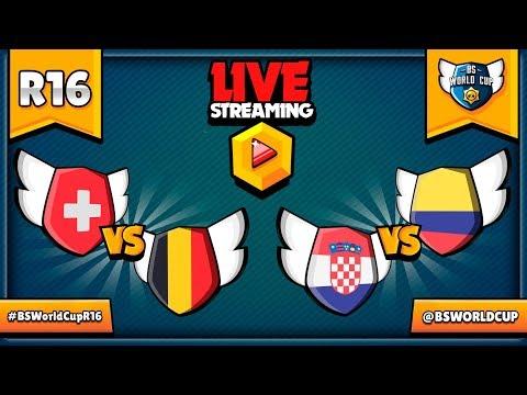 🔴 BRAWL STARS WORLD CUP LIVE! - Knockout Phase - Switzerland VS Belgium & Croatia VS Columbia