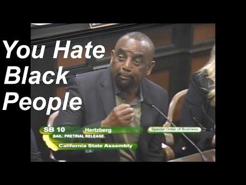 Black Man TELLS OFF Calif. Democrat Sen. Bob Hertzberg at #SB10 #BailReform Hearing #BailReformCA