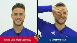 Der FCB-Doppelpass mit Ricky van Wolfswinkel und Silvan Widmer.