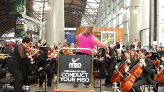 Commuters conduct the Melbourne Symphony Orchestra (MSO)