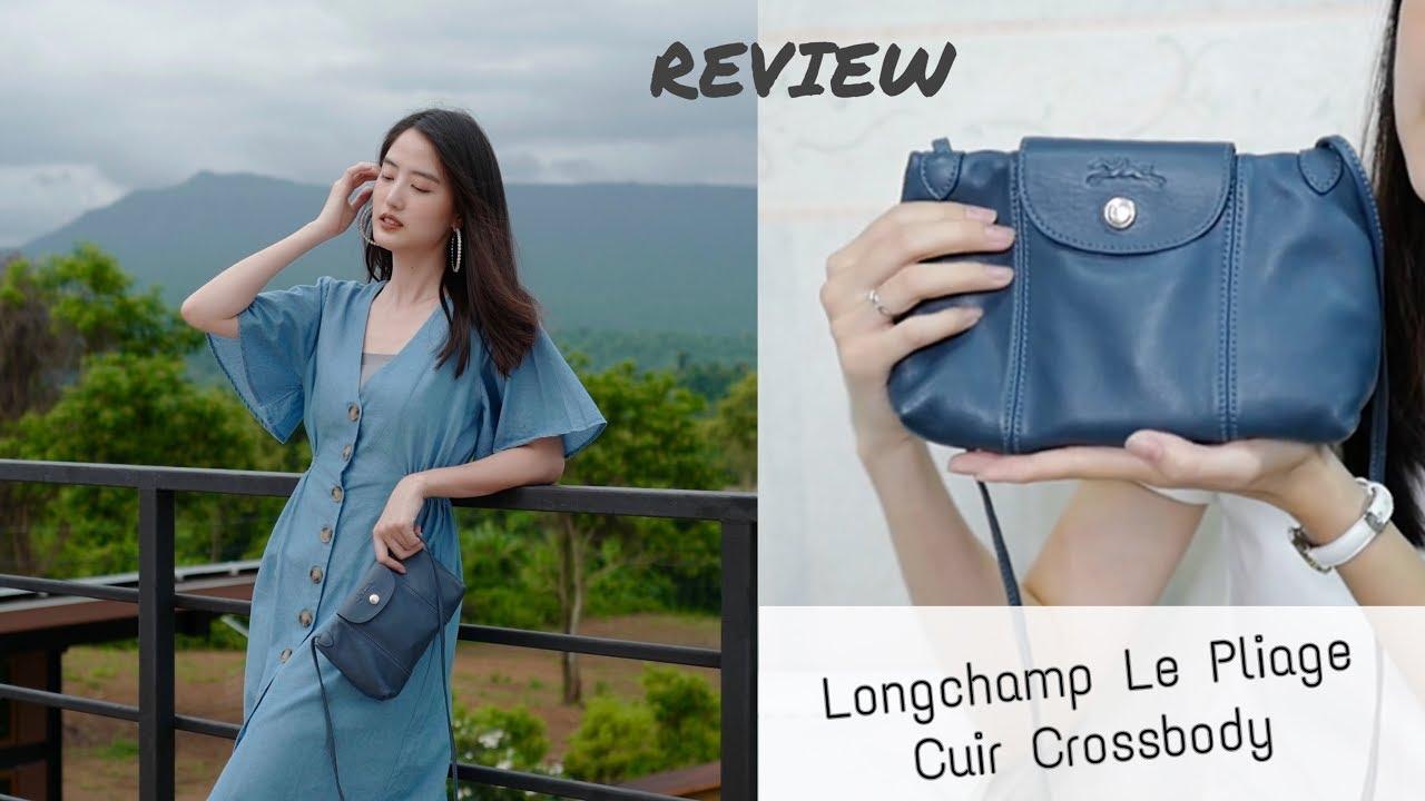 รีวิว Longchamp Le Pliage Cuir Crossbody ใครหากระเป๋าใบเล็ก แนะนำใบนี้เลย |  Pear everyday