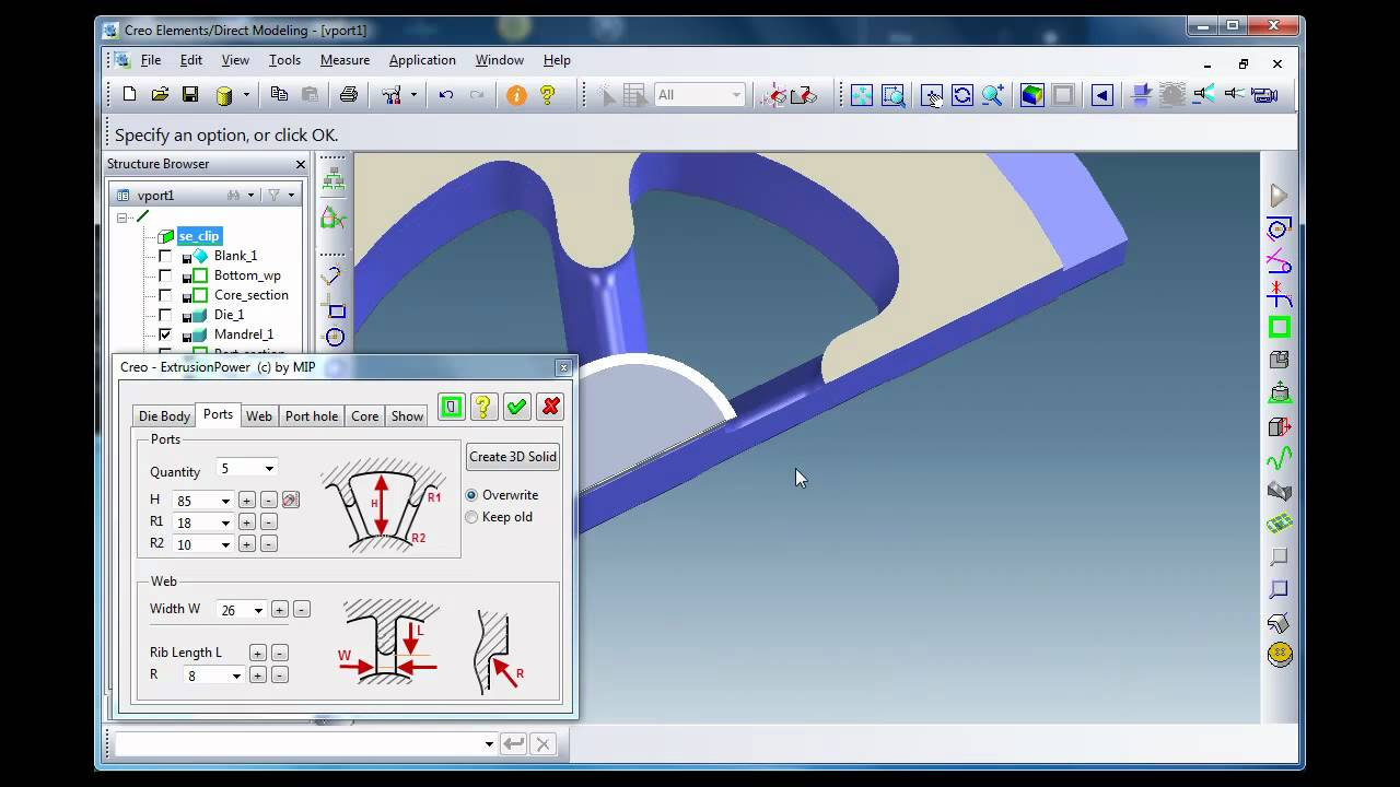 Extrusionpower Old Version Cad Cam Cae Solution For The Design Of Aluminium Extrusion Dies Youtube