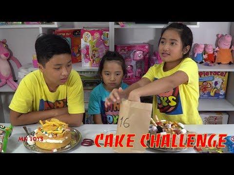 Đồ Ăn Bất Ngờ - Thách Chọn Số Trang Trí Bánh Kem | Cake Challenge MN Toys