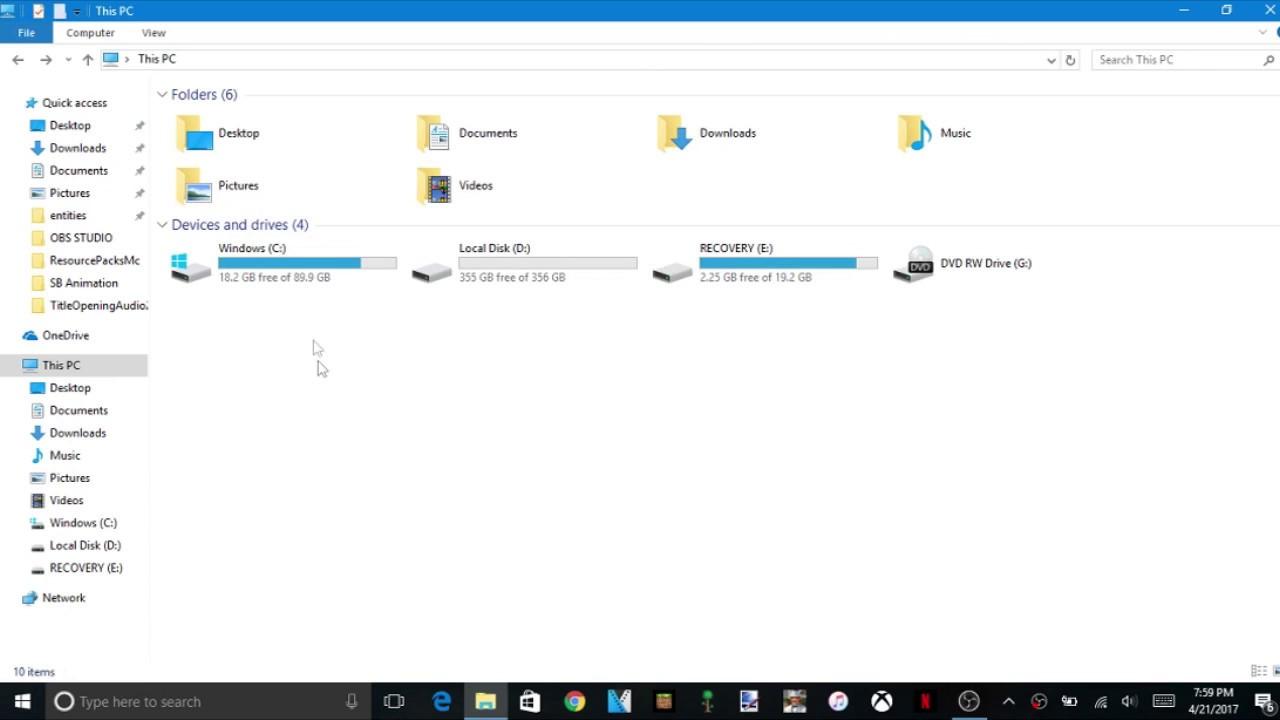 windows 10 minecraft mod folder