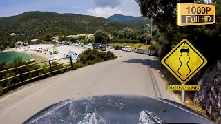 Driving to POROS beach(Mikros Gialos) - Voznja do plaze, Lefkada 2015,GoPro