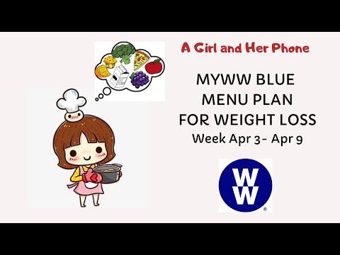 WW BLUE MENU PLAN For WEIGHT LOSS | MYWW | WEIGHT WATCHERS