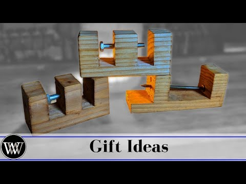 Making a Bolt In A Block DIY Christmas Gift Idea