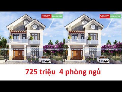 Nhà 2 tầng cực đẹp đẳng cấp  4 phòng ngủ 9mx13,5m thiết kế tại Bắc Ninh
