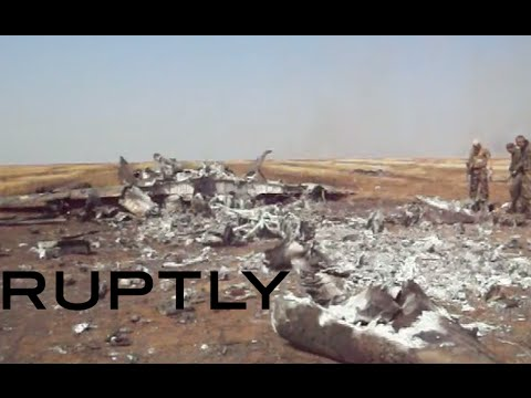 RAW: Militants shoot down Ukrainian fighter jet