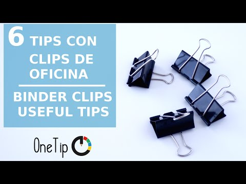 6 Formas originales de usar clips | 6 Binder clips useful tips