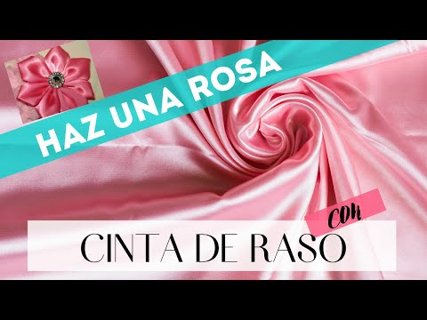 C mo hacer una rosa con cinta de raso youtube - Como hacer flores ...