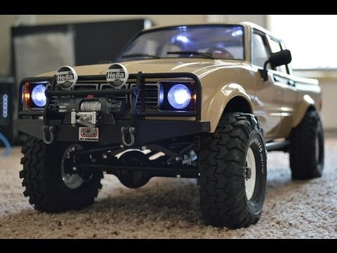 RCMODELEX Hilux double cab unboxing 1/10 scale rock crawler