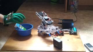 Final project: Robot arm controlled by a wireless glove