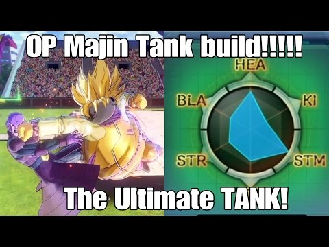 Xenoverse 2 Extremely OP lvl85 Majin Build!! The Ultimate TANK!!!