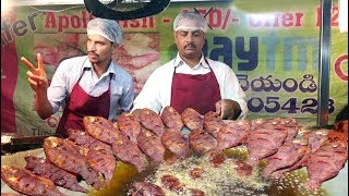 People Crazy to Buy Fish Fry and Spicy Chicken Pakora in S R Nagar | Only @ 20 rs Per | Street Food