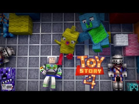 """""""To Infinity And MY FOOT!"""" Toy Story 4 - Short ReMake(Minecraft Animation)"""