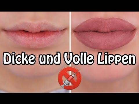 Dicke, Volle, Kylie Jenner Lippen ohne Aufspritzen - Lippen voller schminken - Lippen hacks