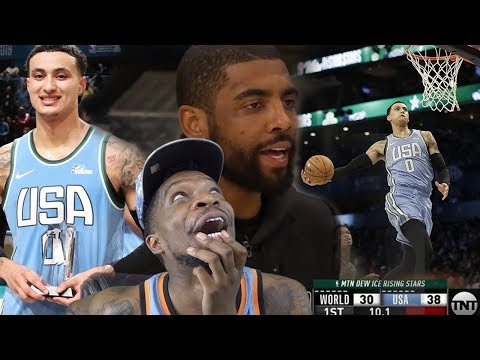 KYRIE COACHES KUZ TO AN MVP! NBA RISING STARS 2019 CHALLENGE! TEAM WORLD vs TEAM USA