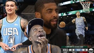 KYRIE COACHES KUZ TO AN MVP! NBA RISING STARS 2019 CHALLENGE! TEAM WORLD vs TEAM USA