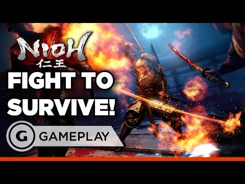 Strategic Samurai Sword Swinging Action! - Nioh Gameplay