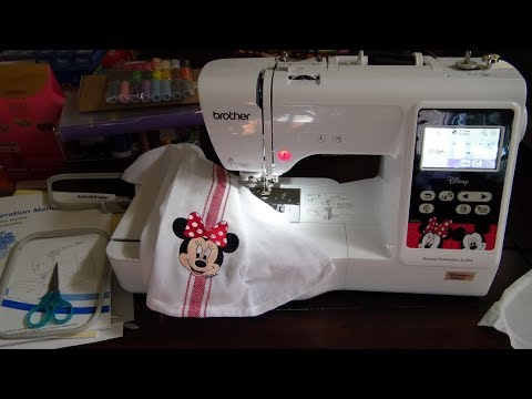 Brother Disney PE550D Embroidery Machine Review Tutorial! Adorable & Inexpensive!