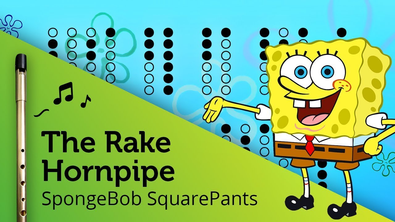 The Rake Hornpipe Spongebob On Tin Whistle D Tabs Tutorial Youtube