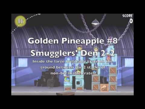 Angry Birds Rio Smugglers' Den Golden Pineapple Locations