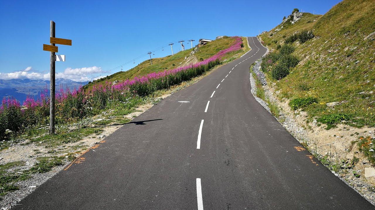 Col de la Loze via Meribel from Brides les Bains (France) - Indoor Cycling  Training - YouTube