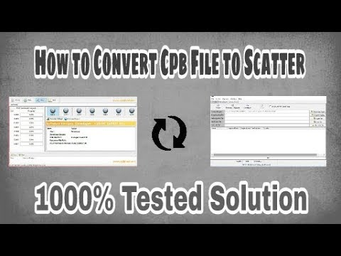 How to Convert Cpb File to Scatter 1000% Tested Solution by SMARTPHONE  SOLUTION'S