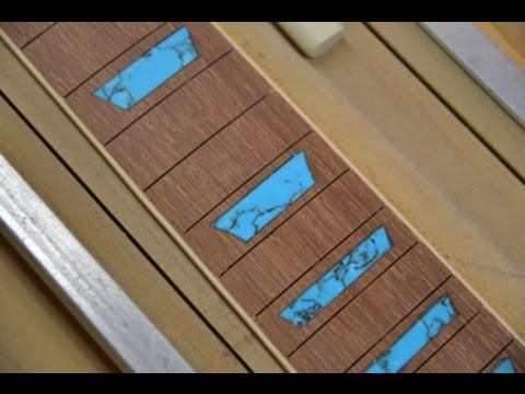 Building A Les Paul Fretboard With Custom Turquoise Inlays