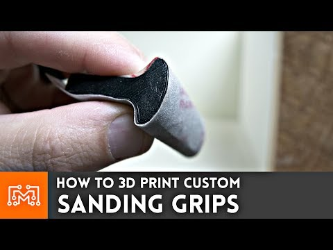 How to make Custom Sanding Grips with 3d printing