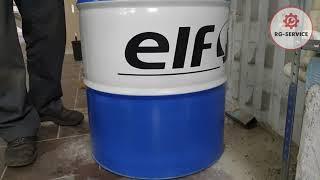 Мы заливаем бочковое моторное масло марки Elf, приобретаем от официального поставщика