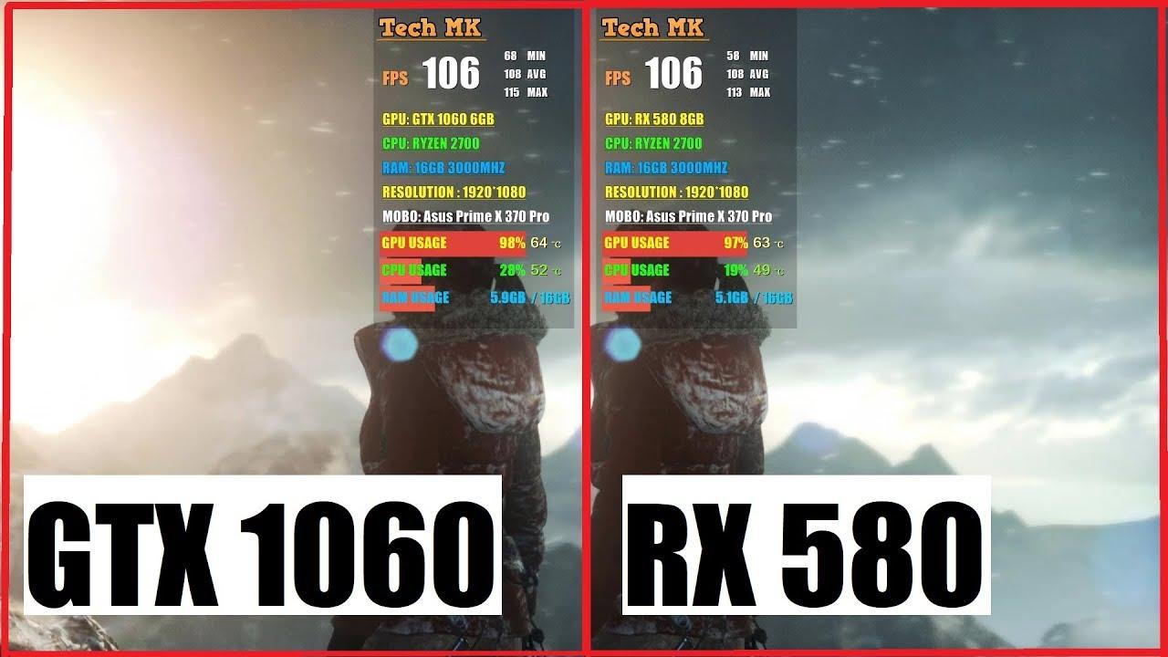 RX 580 vs GTX 1060   Rise Of The Tomb Raider   1080p